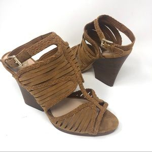 Vince Camuto Suede Gladiator Heeled Sandals Sz 9.5